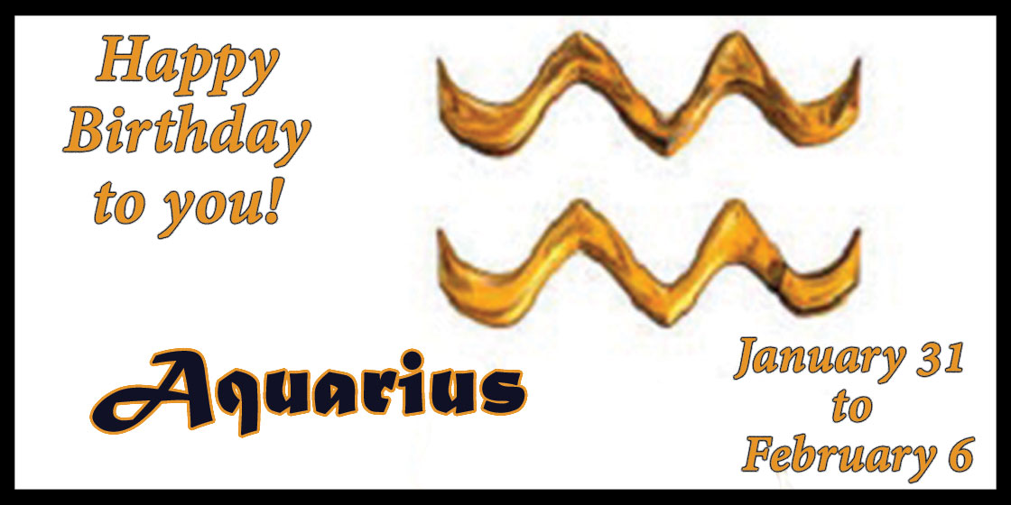 Aquarius Birthdays for Kiowa County