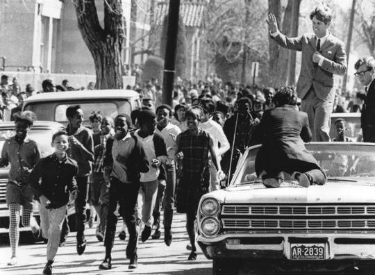 Robert Kennedy in Denver March 28 1969 credit AP File Photo