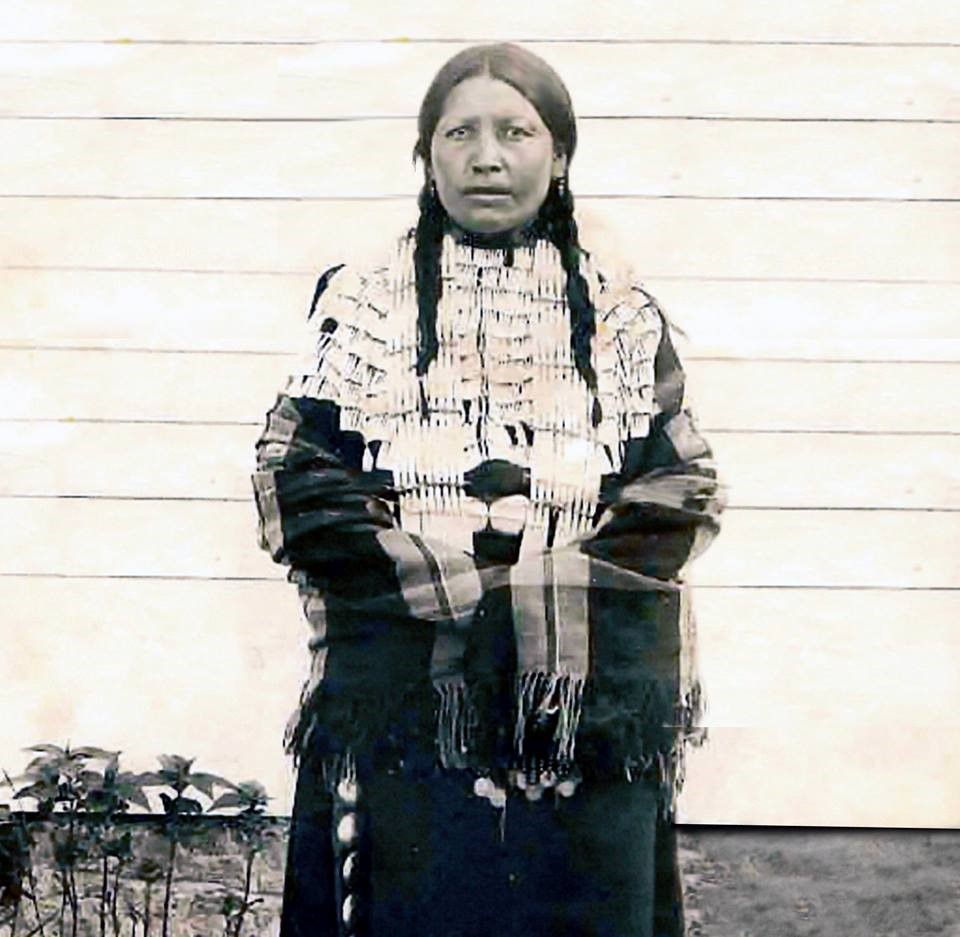 Photo of Black Shawl, only wife of Crazy Horse.  (Crazy Horse did not allow his photo to be taken, so there is no current public record of his appearance.)