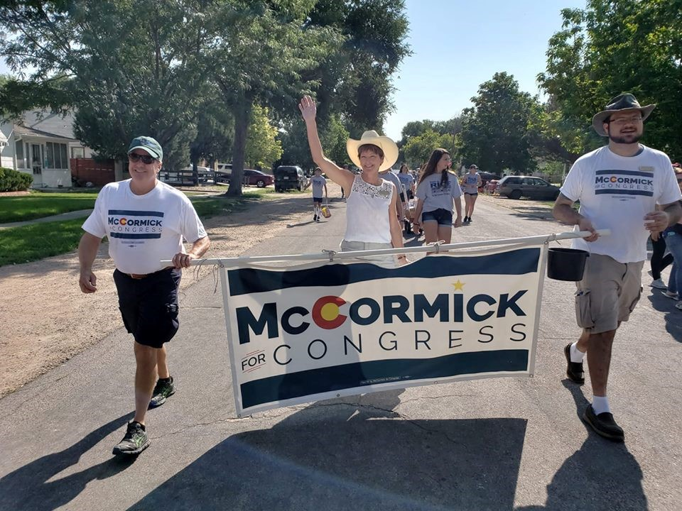 McCormick campaigning for congress