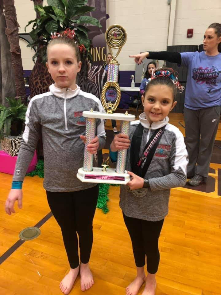 Ella Splitter and Tryleigh Suede DuVall level 3 placed fourth. - Photo Credit Rachel Bletzacker