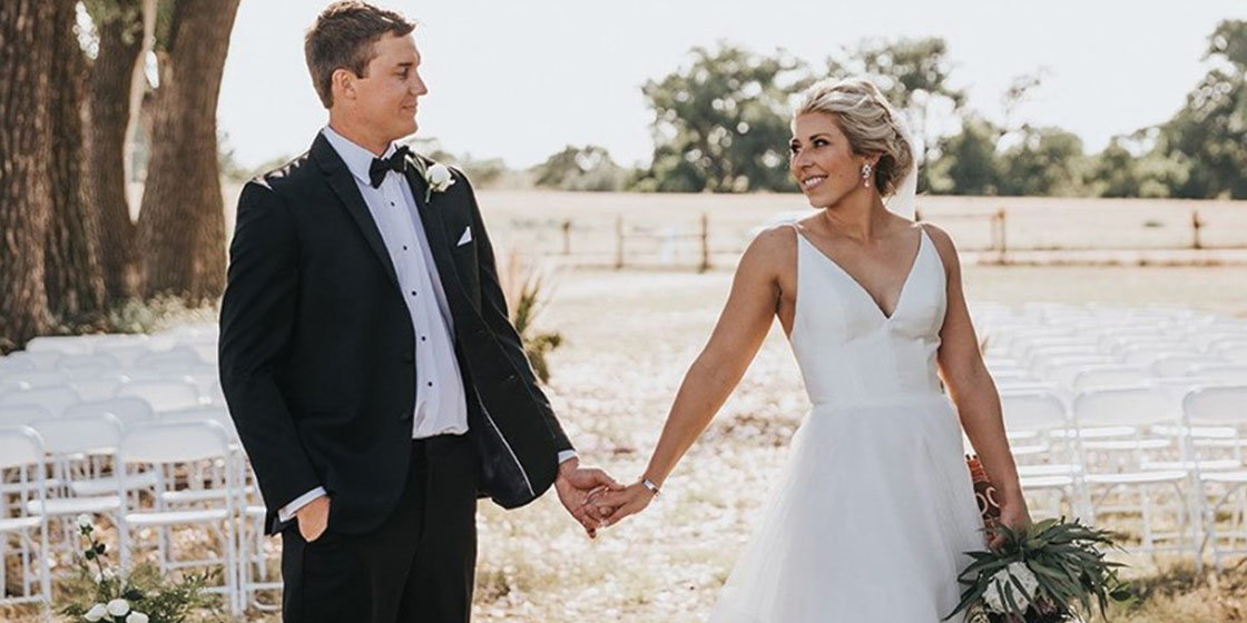 Jordan (Barnett) and Brady Buck get married in a Country Wedding