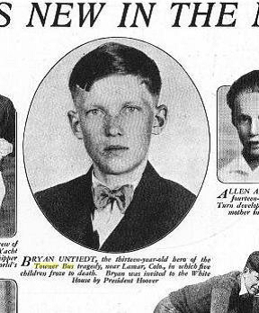 Bryan Untiedt - Hero and published in Boy Life Magazine in 1931