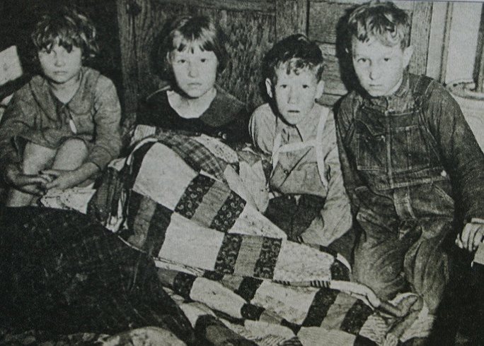 Photo of surviving children after being rescued