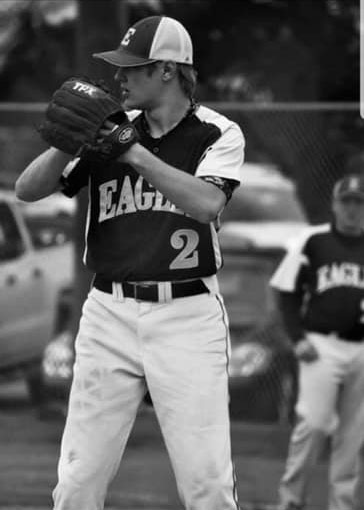 The lone senior on the Eads baseball team, TJ Conaway from Kit Carson, took the mound against Haxtun and went five innings in his final preps baseball game.  Eads would end their season in a 8-2 loss to the Bulldogs. - Photo Credit Jamie Conaway