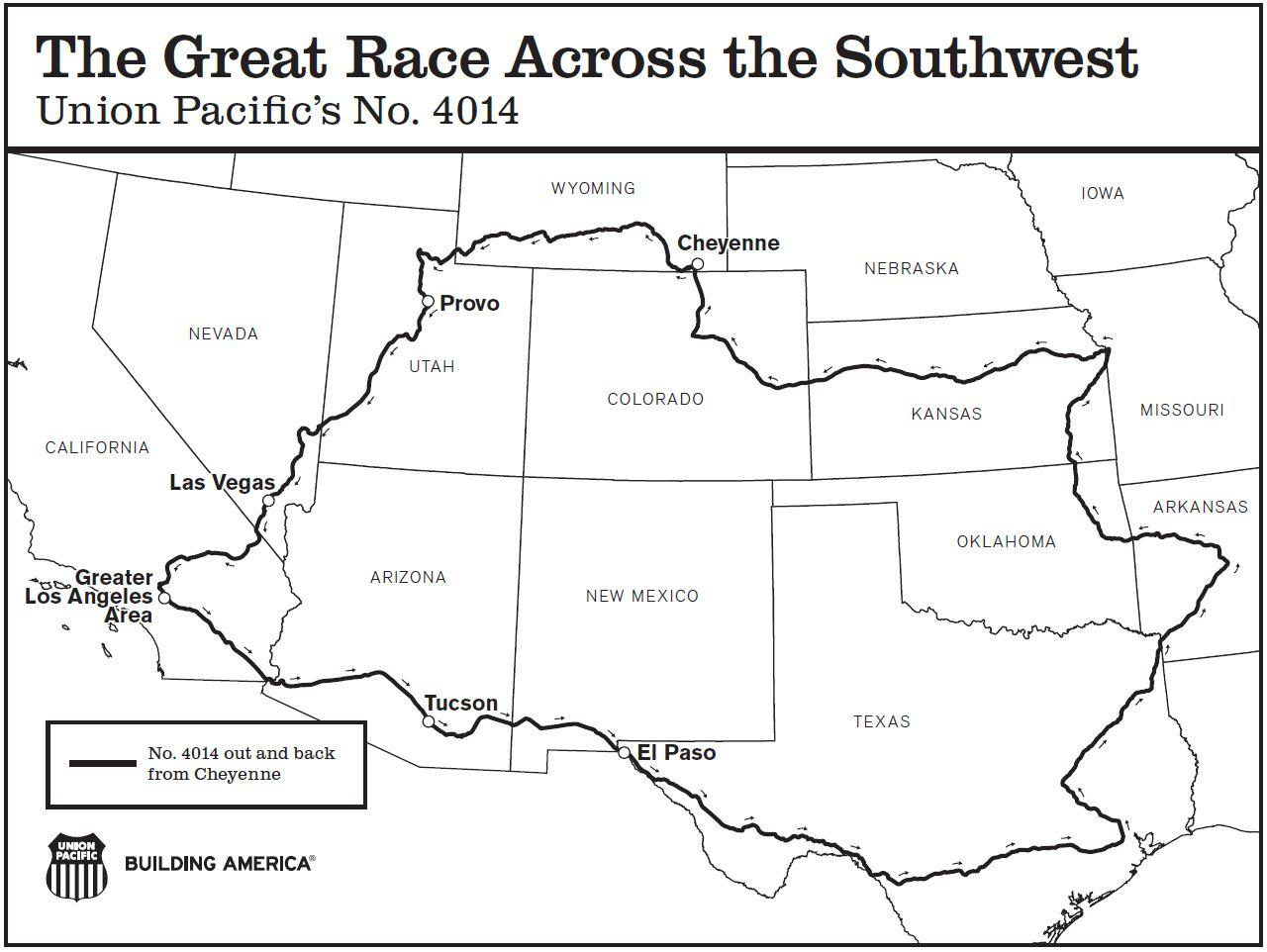 The Great Race across the SW - Union Pacific Steam Engine