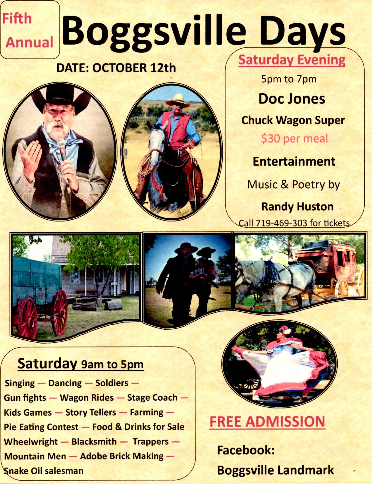 Boggsville Days - Annual chuck wagon and fun!