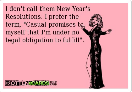 Accidental Country Girls - New Years Resolutions
