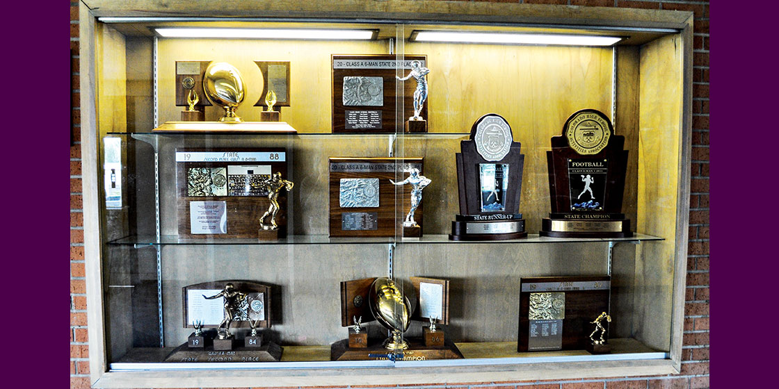 Eads High School Trophy Case
