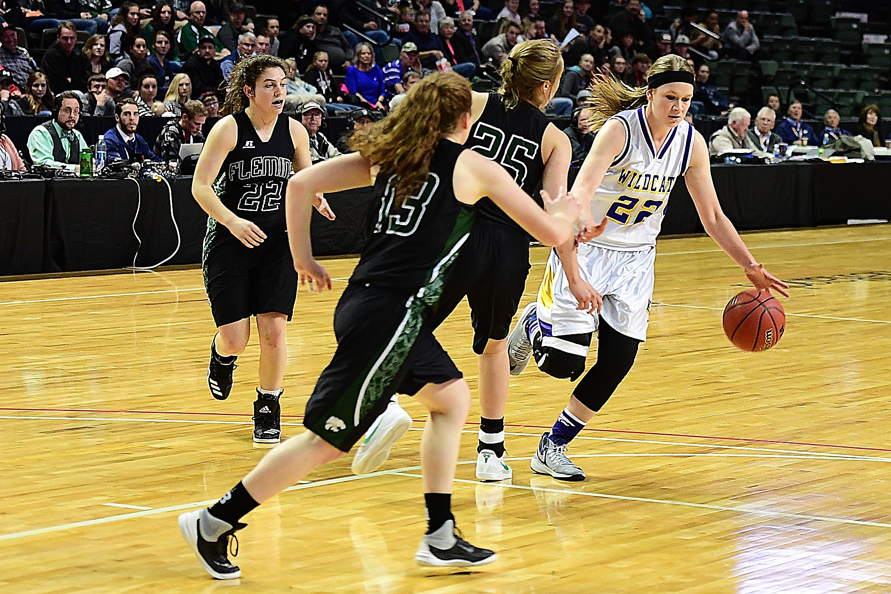 MiCayla Isenbart and the Kit Carson Wildcats versus Fleming at the State Championship Game - Photo Credit Bob Schecter