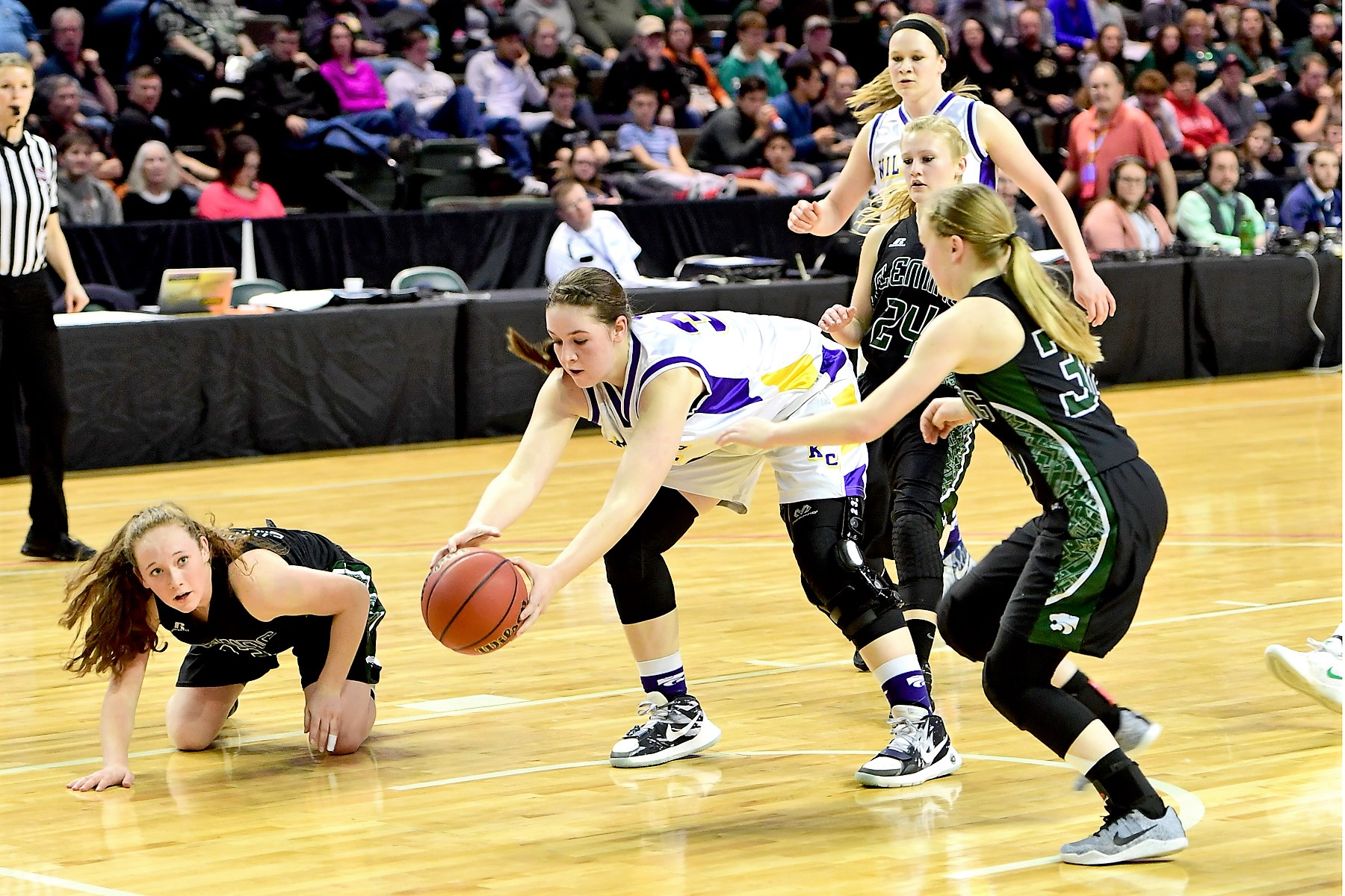 Olivia Isenbart with the Kit Carson Lady Wildcats at the State Championship Game versus Fleming Photo Credit Bob Schecter